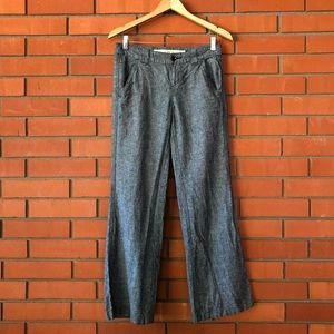 DAUGHTERS OF THE LIBERATION Black Linen Pants